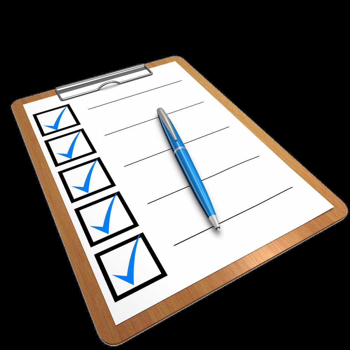 Checkliste vor der Abfahrt