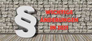 Read more about the article Was ändert sich in 2021 im Straßenverkehr?
